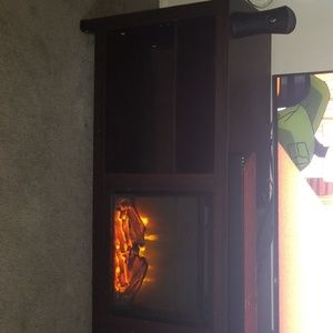 Fire place TV stand.
